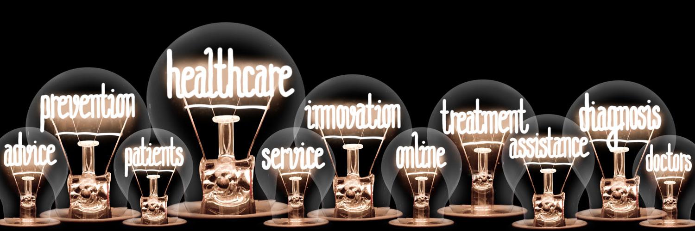 Light Bulbs with Healthcare Concept
